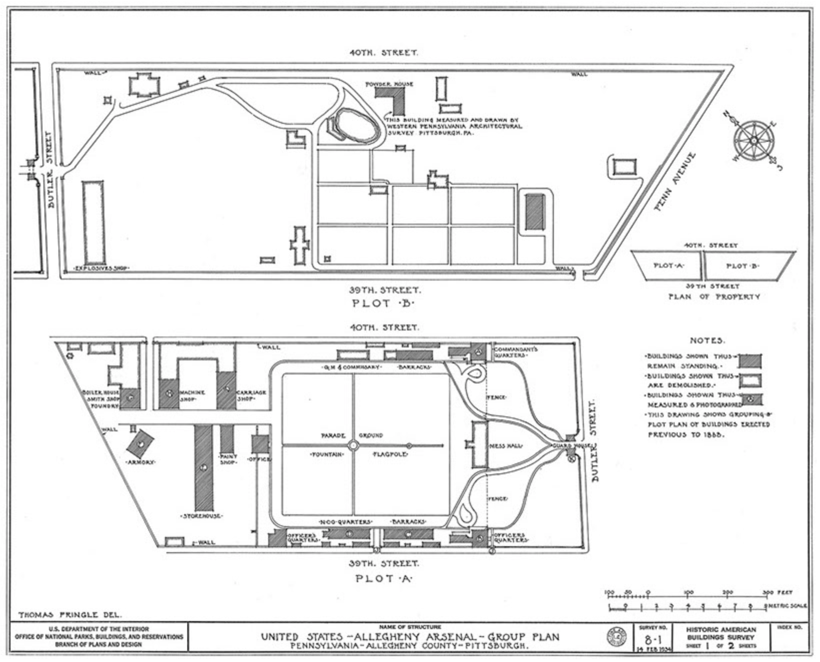 Historic Map of Allegheny Arsenal